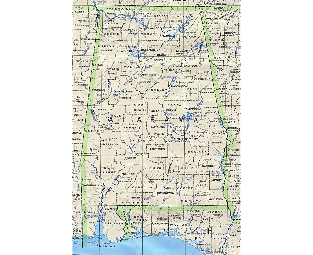 Maps Of Alabama State Collection Of Detailed Maps Of Alabama - Alabama map usa