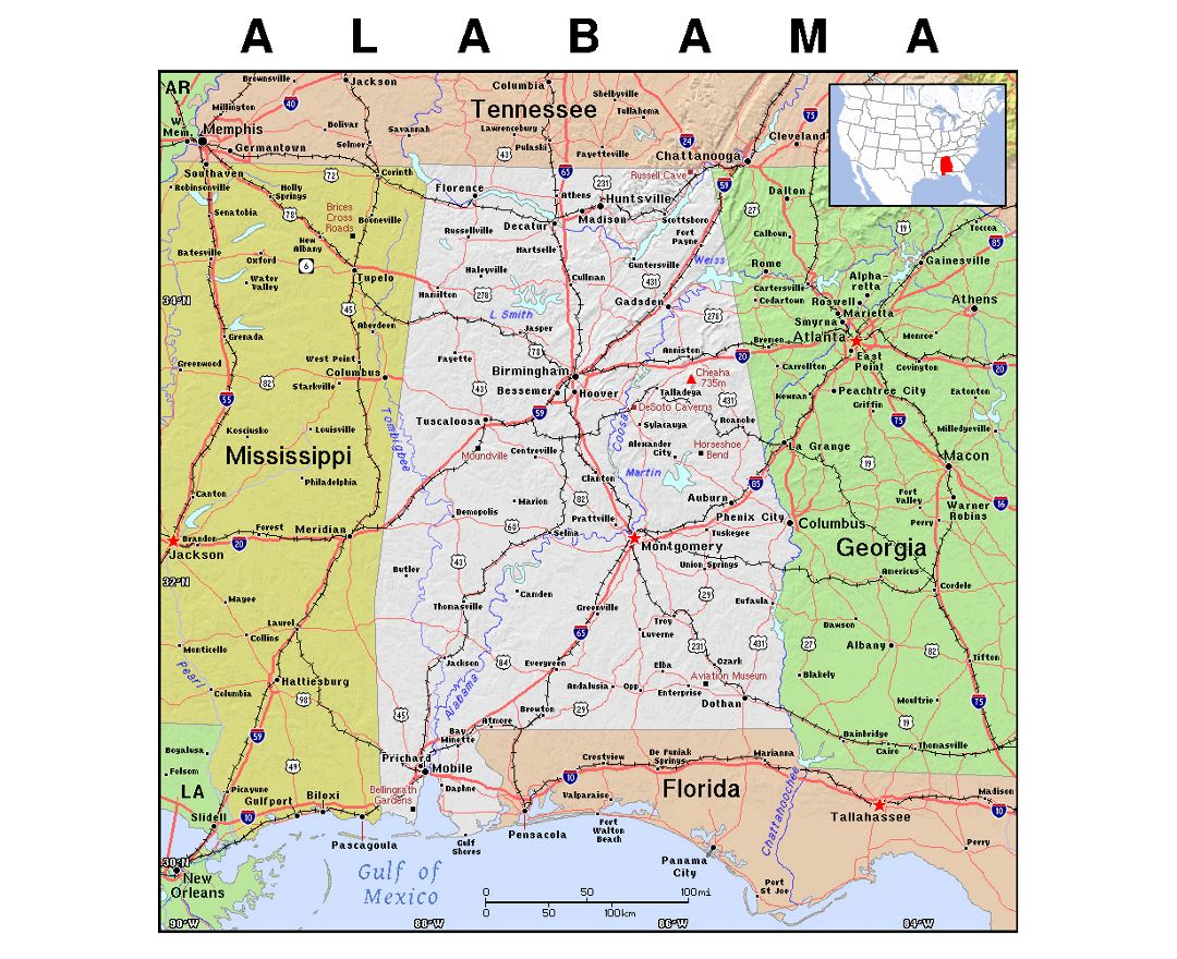 Maps Of Alabama State Collection Of Detailed Maps Of Alabama - Map of alabama