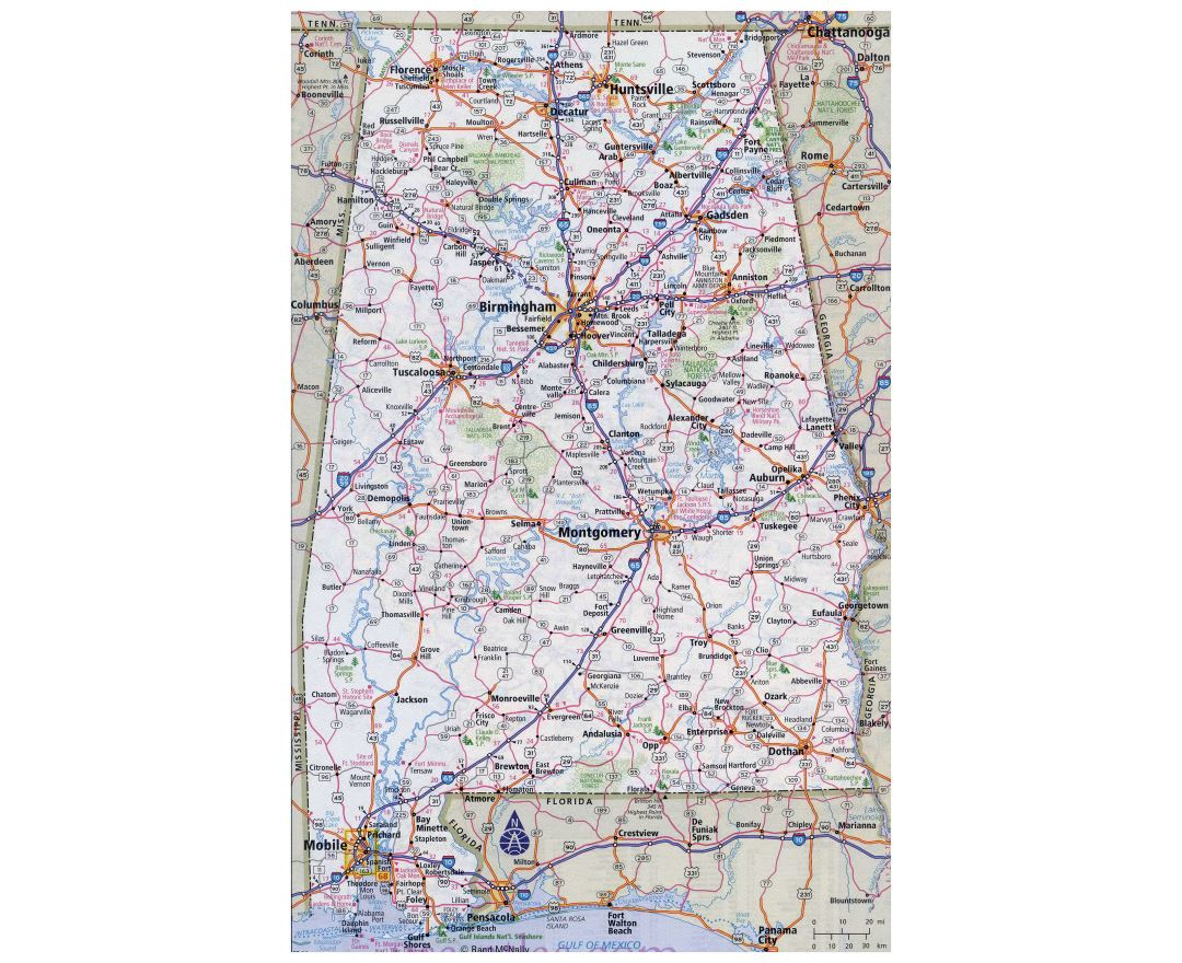 Maps of Alabama | Collection of maps of Alabama state | USA | Maps ...