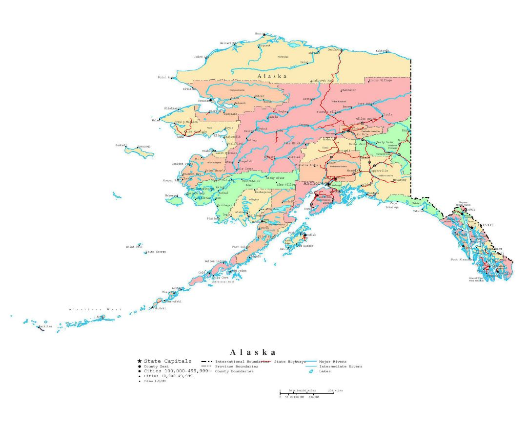 Maps Of Alaska State Collection Of Detailed Maps Of Alaska State - Cities in alaska map