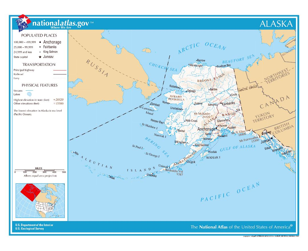Maps Of Alaska State Collection Of Detailed Maps Of Alaska State - Alaska usa map