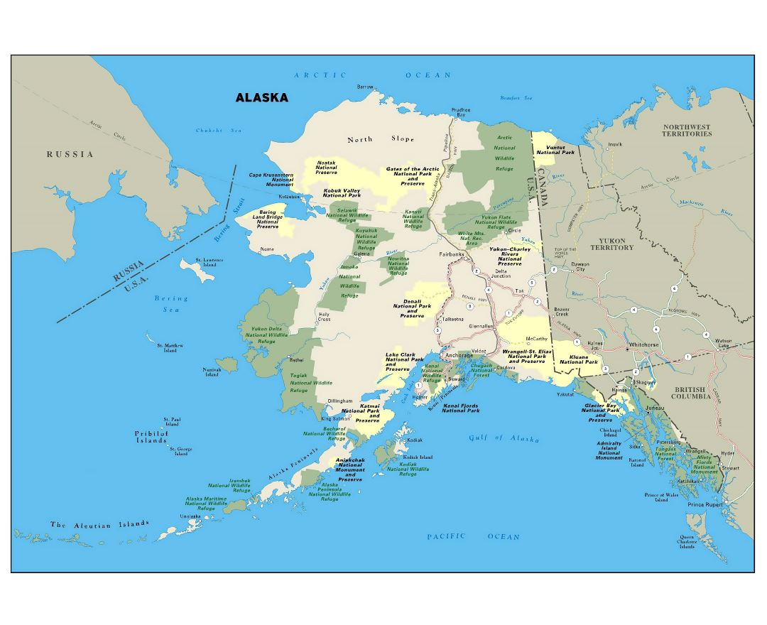 Maps of Alaska state Collection of detailed maps of Alaska state