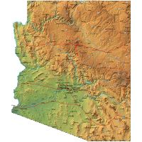 Relief Map Of Arizona A Province Of United States With Shaded