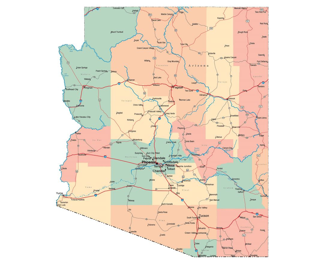 Maps Of Arizona State Collection Of Detailed Maps Of Arizona - City map of arizona
