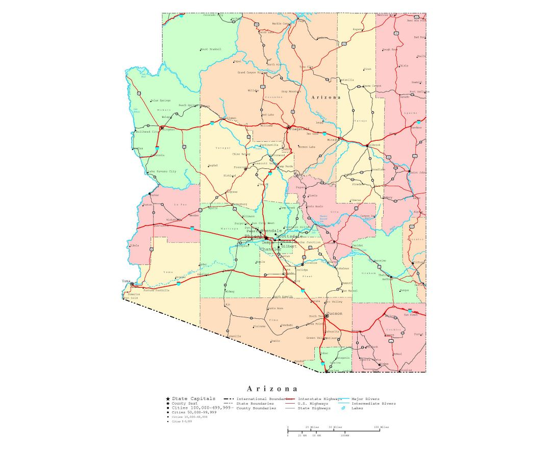 Maps Of Arizona State Collection Of Detailed Maps Of Arizona - Road map arizona