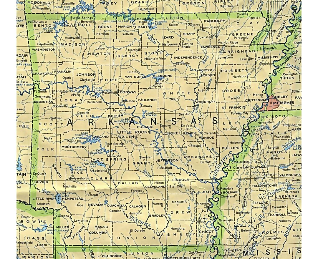 Maps Of Arkansas State  Collection Of Detailed Maps Of