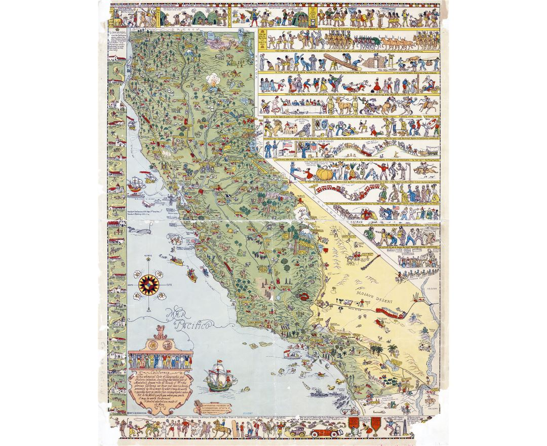 Maps of California state Collection of detailed maps of California