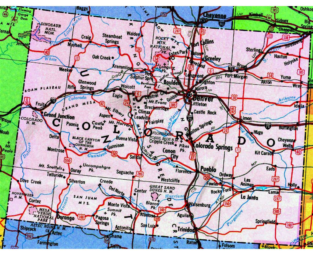 Maps of Colorado state | Collection of detailed maps of ...