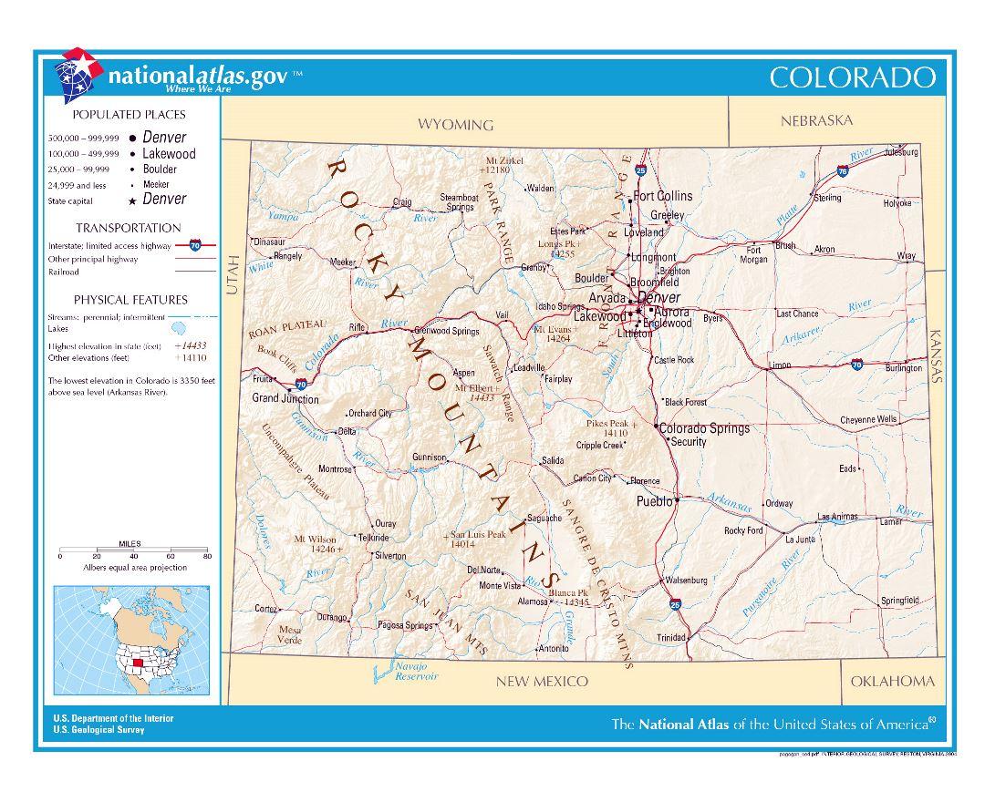 Map Usa Colorado Map Images Denver Road Map Road Map Of Denver - Usa map denver colorado