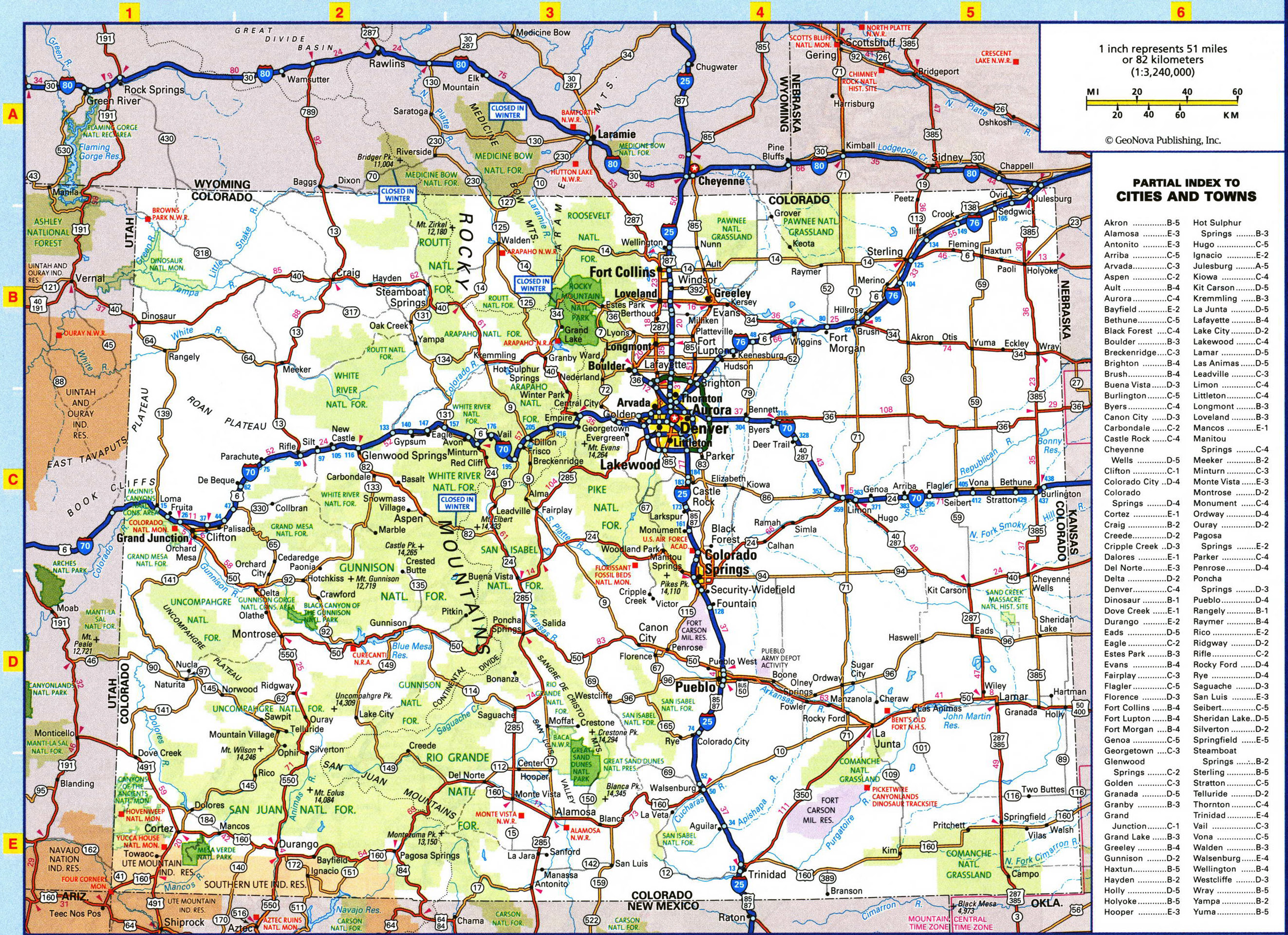 Large Detailed Roads And Highways Map Of Colorado State With All - Colorado state map