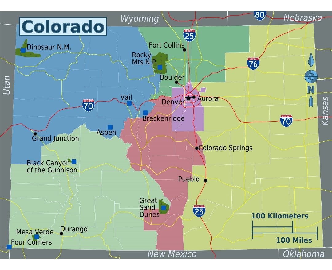 Maps of Colorado state Collection of detailed maps of Colorado