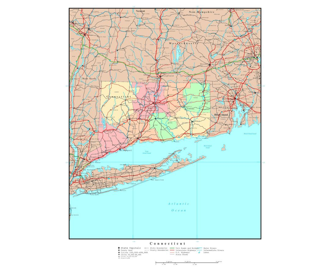 Maps Of Connecticut State Collection Of Detailed Maps Of - Road map of connecticut
