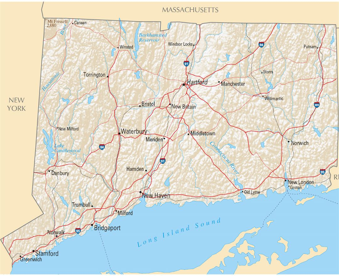 USA States Series Connecticut Political Map With Counties FileMap - Map usa connecticut