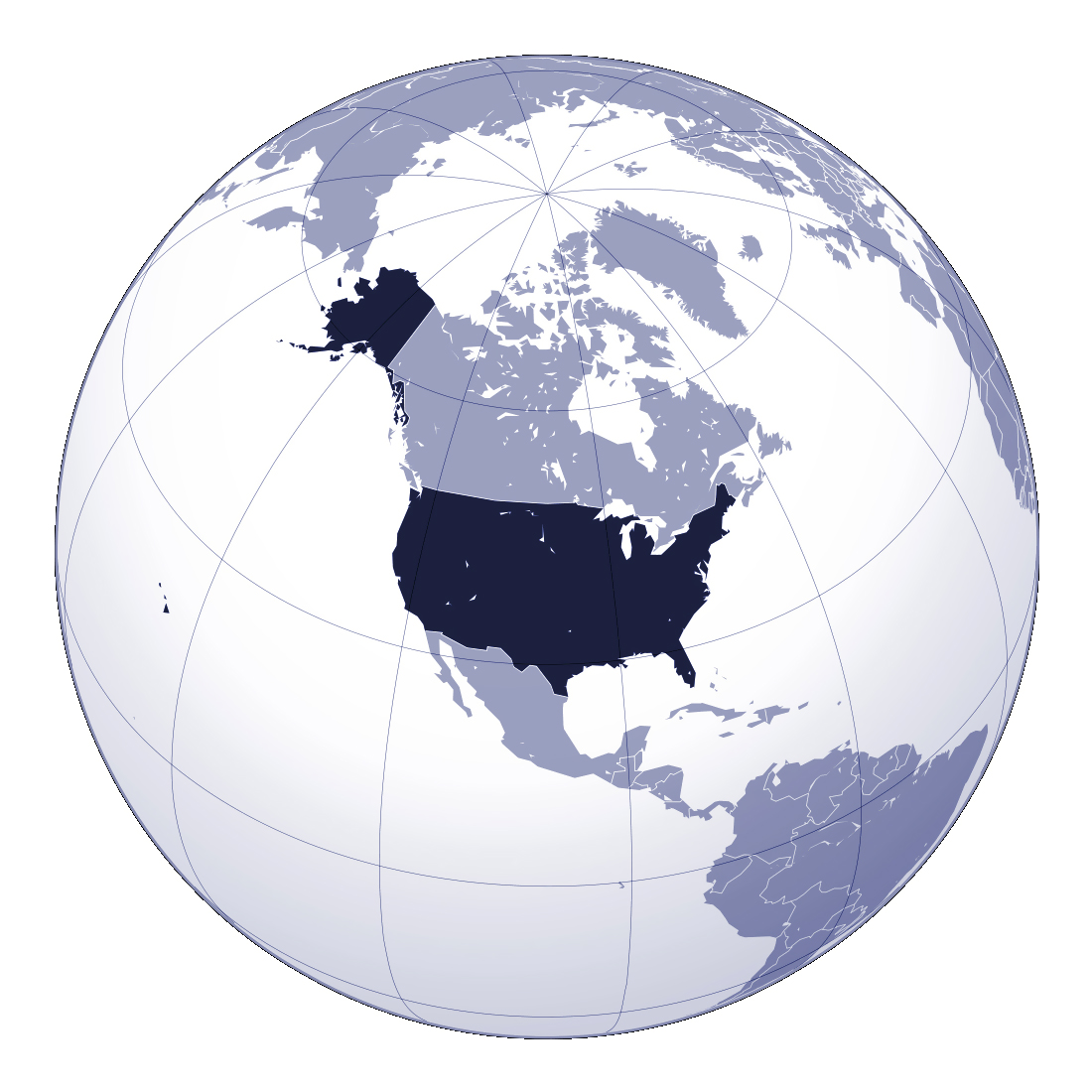 Detailed location map of the United States USA Maps of the USA