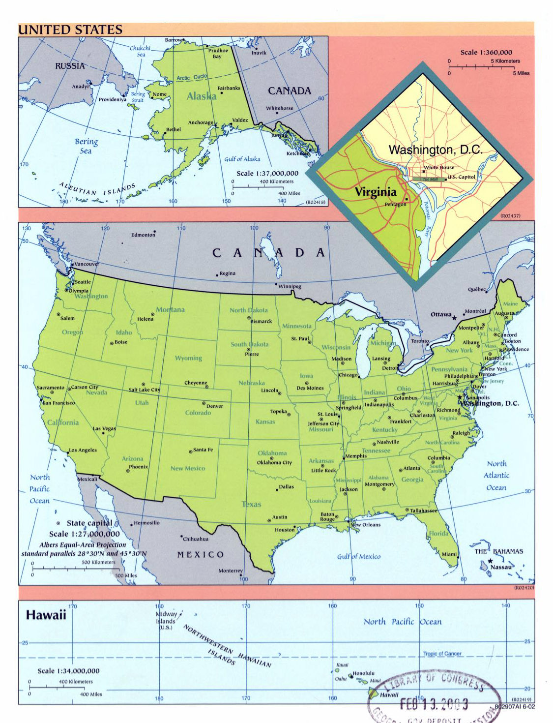 Detailed Political And Administrative Map Of The USA USA - Detailed map of the usa