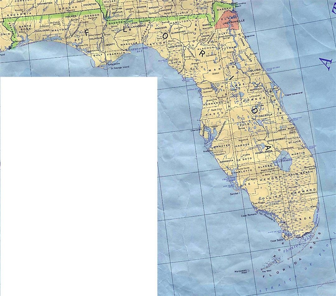 Administrative map of Florida