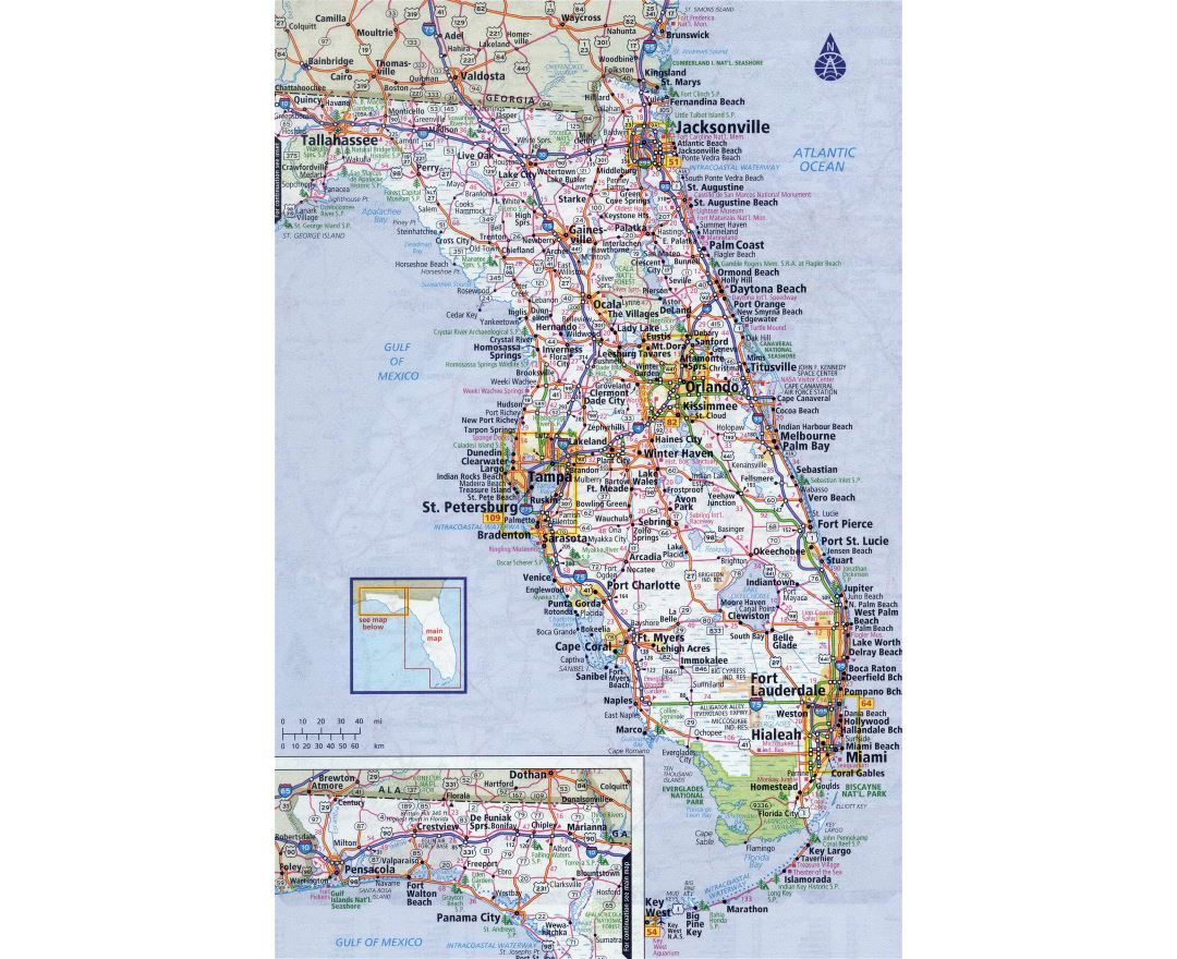 Large Map Of Florida Cities.Maps Of Florida Collection Of Maps Of Florida State Usa Maps