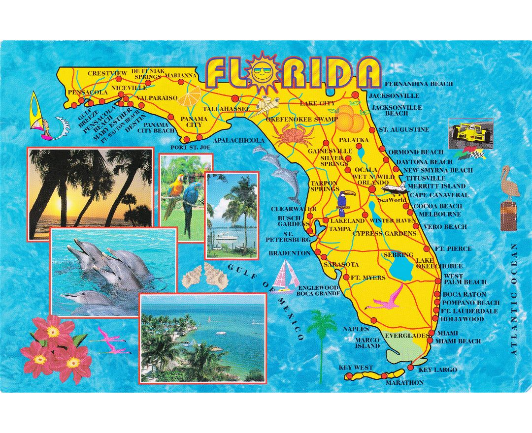Map Of Florida Running Stores Reference Map Of Florida USA - Map of usa and caribbean