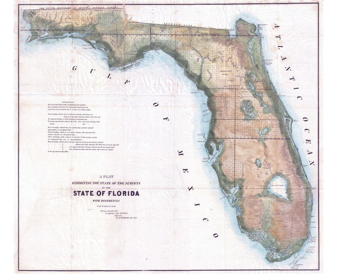 large scale florida map
