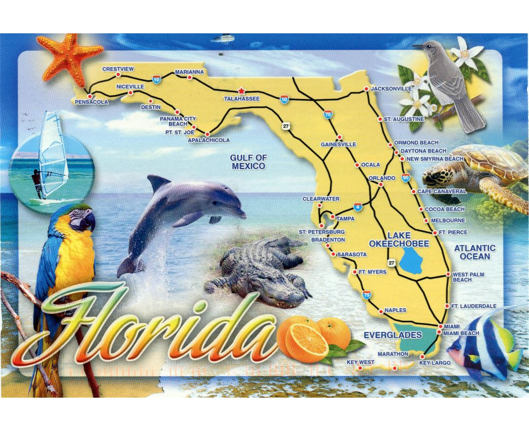 Florida Map Map Of Florida USA Detailed FL Map Usa Florida Maps - Florida map usa