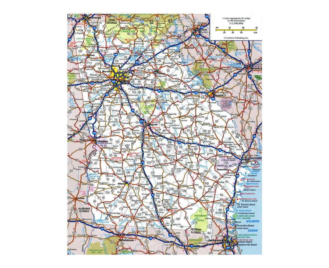 Maps Of Georgia State Collection Of Detailed Maps Of Georgia - Road map georgia