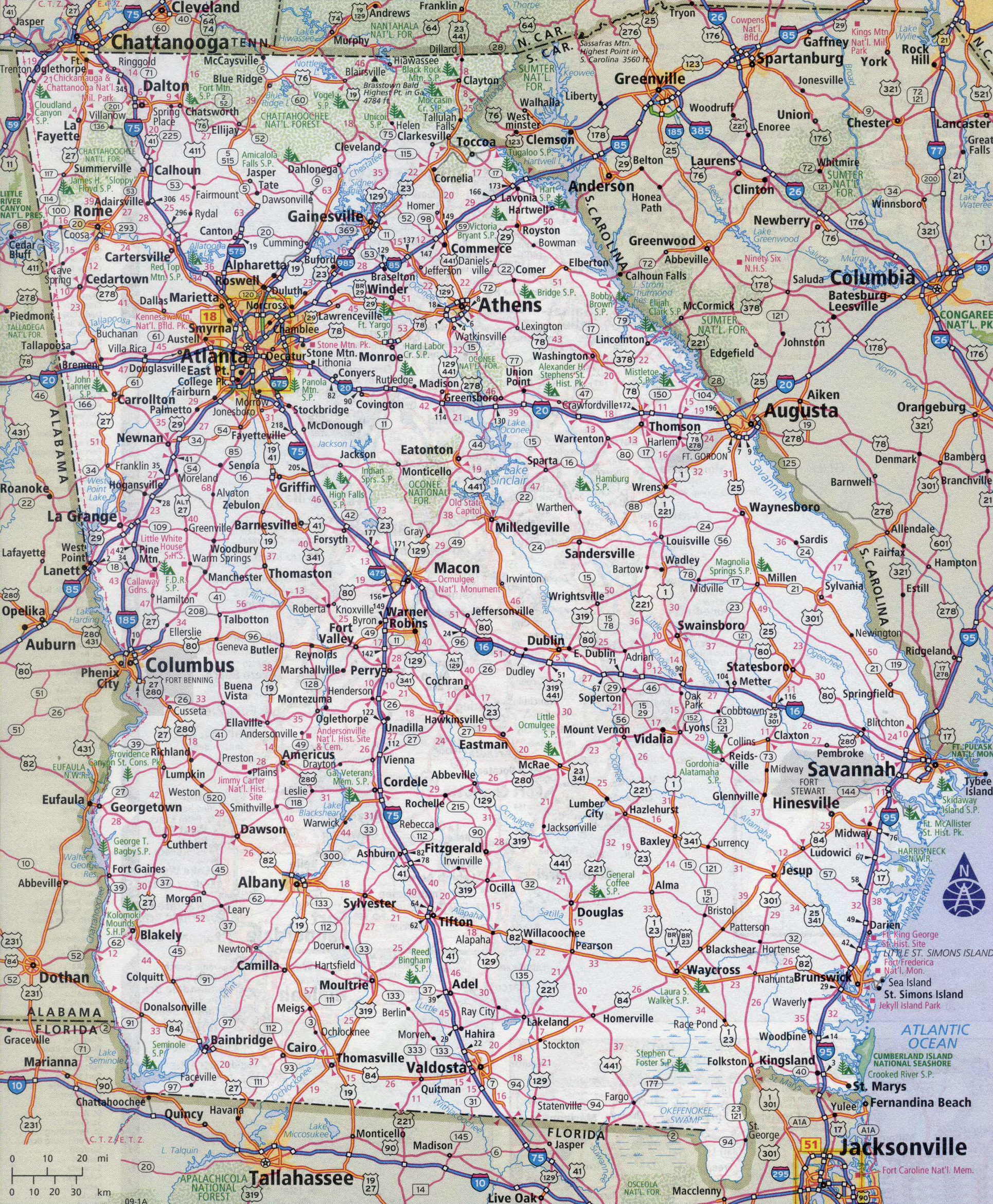 Large detailed roads and highways map of Georgia state with ... on printable georgia map with cities, georgia state on a map, georgia state flower, just map of georgia cities, map of georgia showing cities, state of georgia cities, western kentucky map with cities, ga road maps with cities, map of southern georgia cities, maine map with cities, ga maps by county with cities, detailed map of georgia cities, georgia state map online, map of georgia with cities, map of georgia and alabama cities, florida map with cities, south carolina and georgia map with cities, georgia state highway map, georgia-florida map showing cities, georgia map cities ga,
