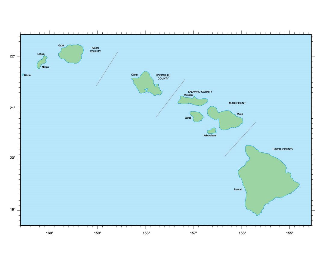 Reference Map Of Hawaii USA Nations Online Project Map Usa With
