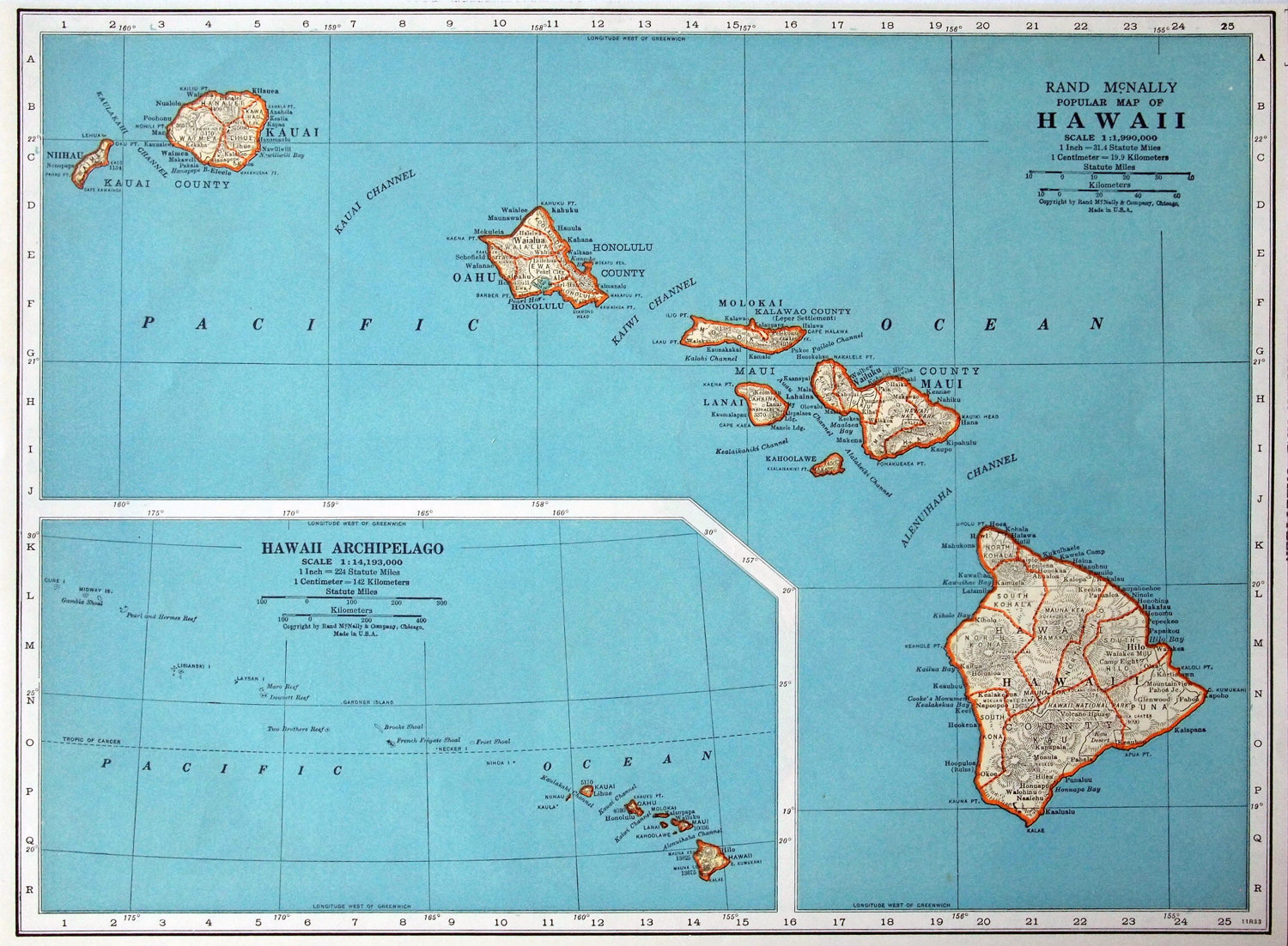map of hawaii state