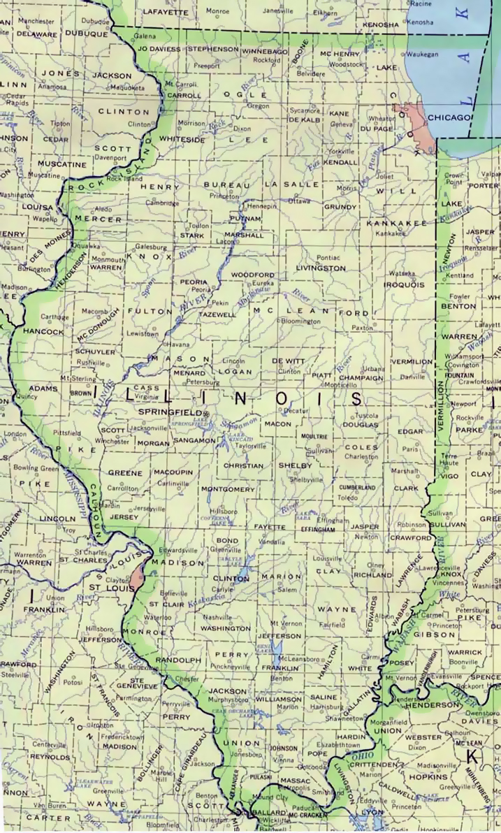 Administrative map of Illinois state | Illinois state | USA ... on illinois on a map of north america, iowa and illinois usa, detroit map usa, illinois storm radar map, cartoon map of usa, illinois county map, illinois state,