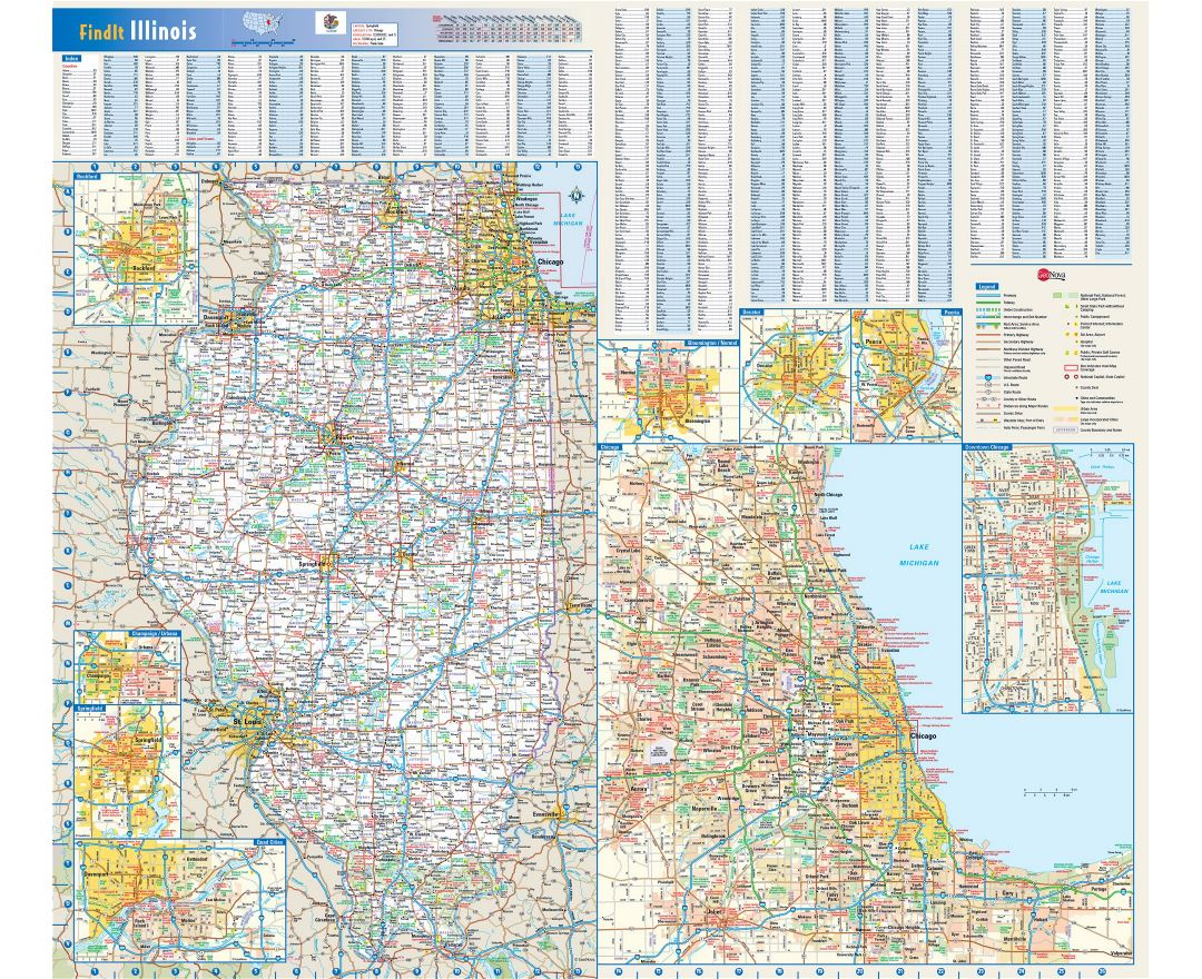 Maps of Illinois state Collection of detailed maps of Illinois