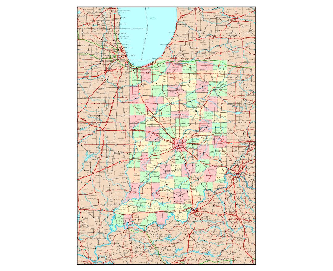 Maps Of Indiana State  Collection Of Detailed Maps Of