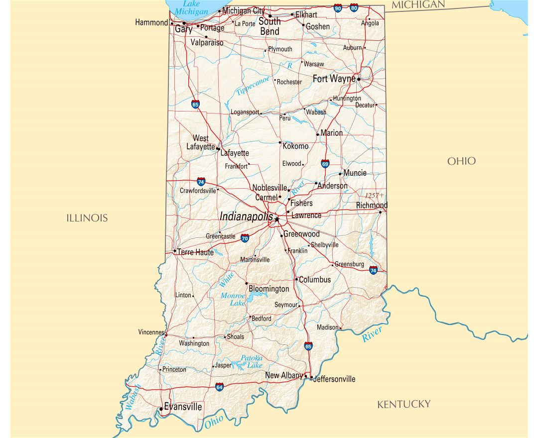 Maps Of Indiana State Collection Of Detailed Maps Of Indiana Indiana Map Usa State