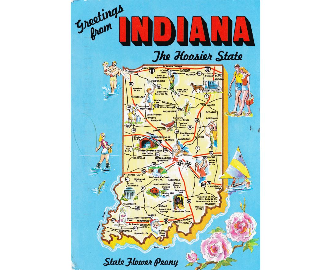 Maps of Indiana state Collection of detailed maps of Indiana state