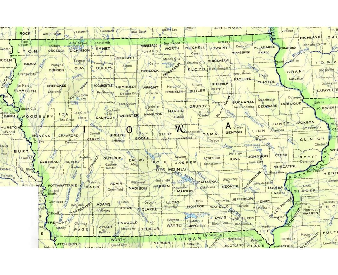 Maps Of Iowa State Collection Of Detailed Maps Of Iowa State - Road map of iowa