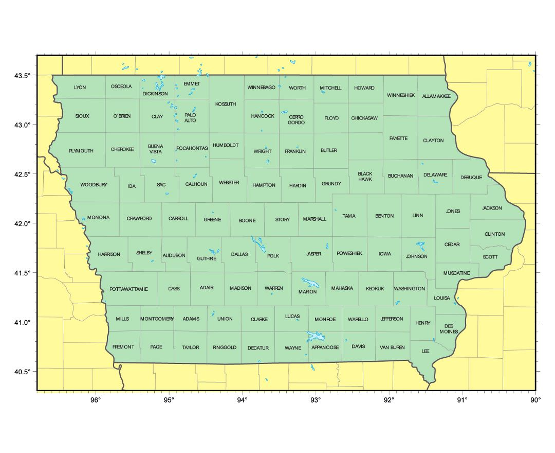 Maps Of Iowa State Collection Of Detailed Maps Of Iowa State - Map of iowa