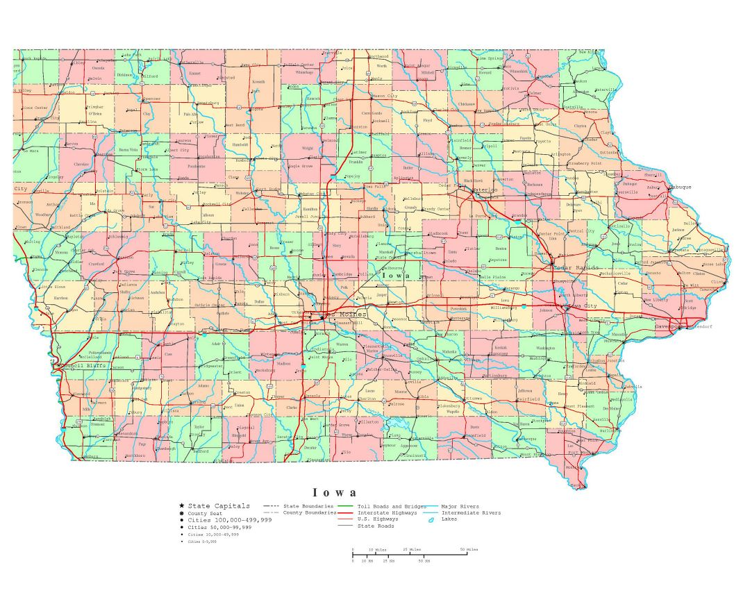 Maps Of Iowa State Collection Of Detailed Maps Of Iowa State - Iowa road map