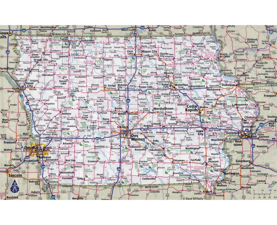 Maps Of Iowa State Collection Of Detailed Maps Of Iowa State - Cities in iowa map