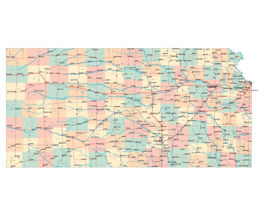 Maps Of Kansas State Collection Of Detailed Maps Of Kansas State - Kansas state map