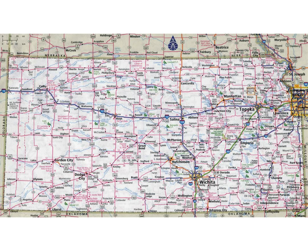Maps Of Kansas State Collection Of Detailed Maps Of Kansas State - Kansas cities map usa