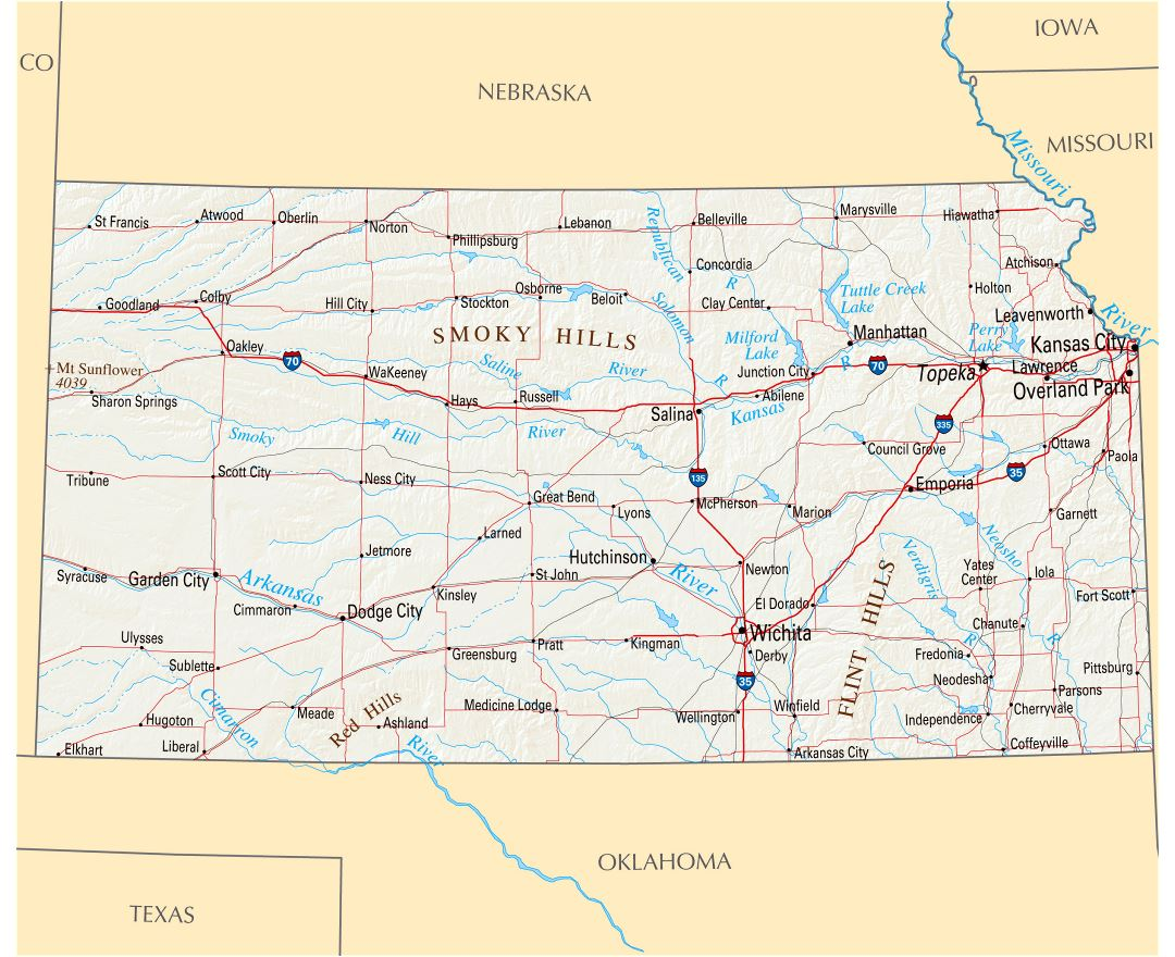Picture Of Diagram Us Map Kansas State More Maps Diagram And This - Us interstate map states