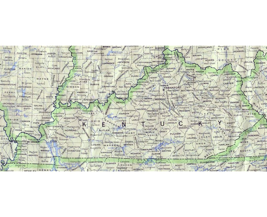 Maps Of Kentucky State Collection Of Detailed Maps Of Kentucky - Map of kentucky usa
