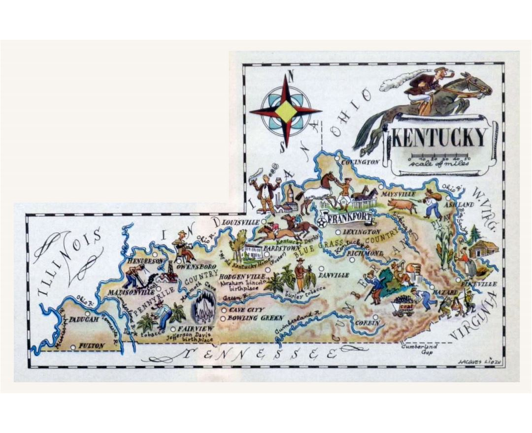 Maps Of Kentucky State Collection Of Detailed Maps Of Kentucky - Kentucky on a map of usa