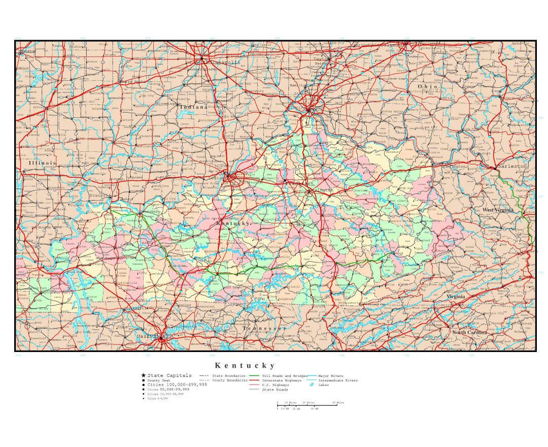 Maps Of Kentucky State Collection Of Detailed Maps Of Kentucky - Kentucky cities map