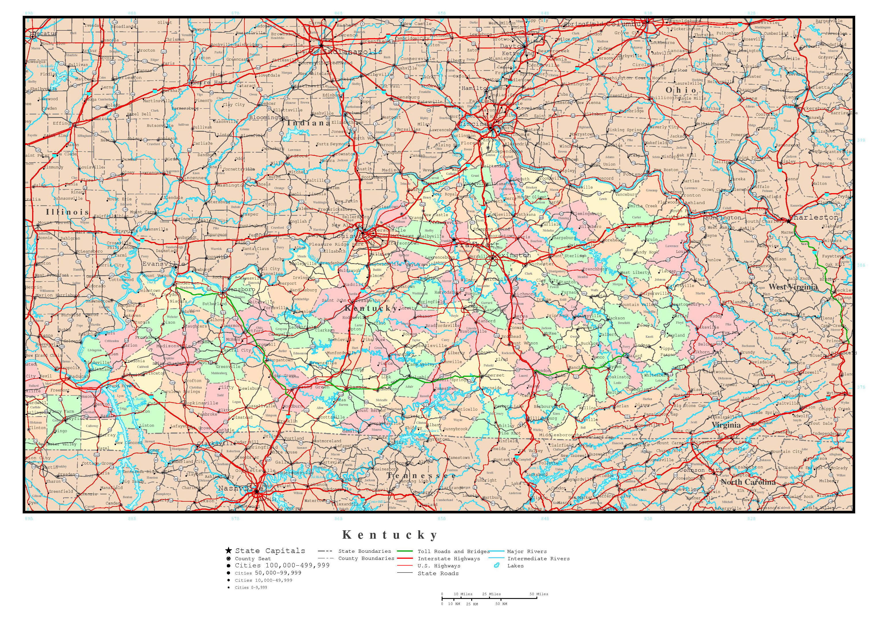 Large detailed administrative map of Kentucky state with roads ... on ky road map of kentucky, ky state map major cities, ky state paduke, map of alabama major cities, ky state map by county, ky state produce, ky state paducah hospitals, ky state road map, ky map with counties and cities, map of tn cities, map of all cities, ky state parks map of resorts, kentucky cities, map of ky cities, ky state map blue, ky state topographical map, map of massachusetts towns and cities, ky highway map, ky usa map,