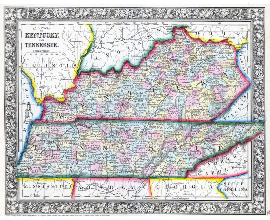 Maps Of Kentucky State Collection Of Detailed Maps Of Kentucky - Detailed map of tennessee