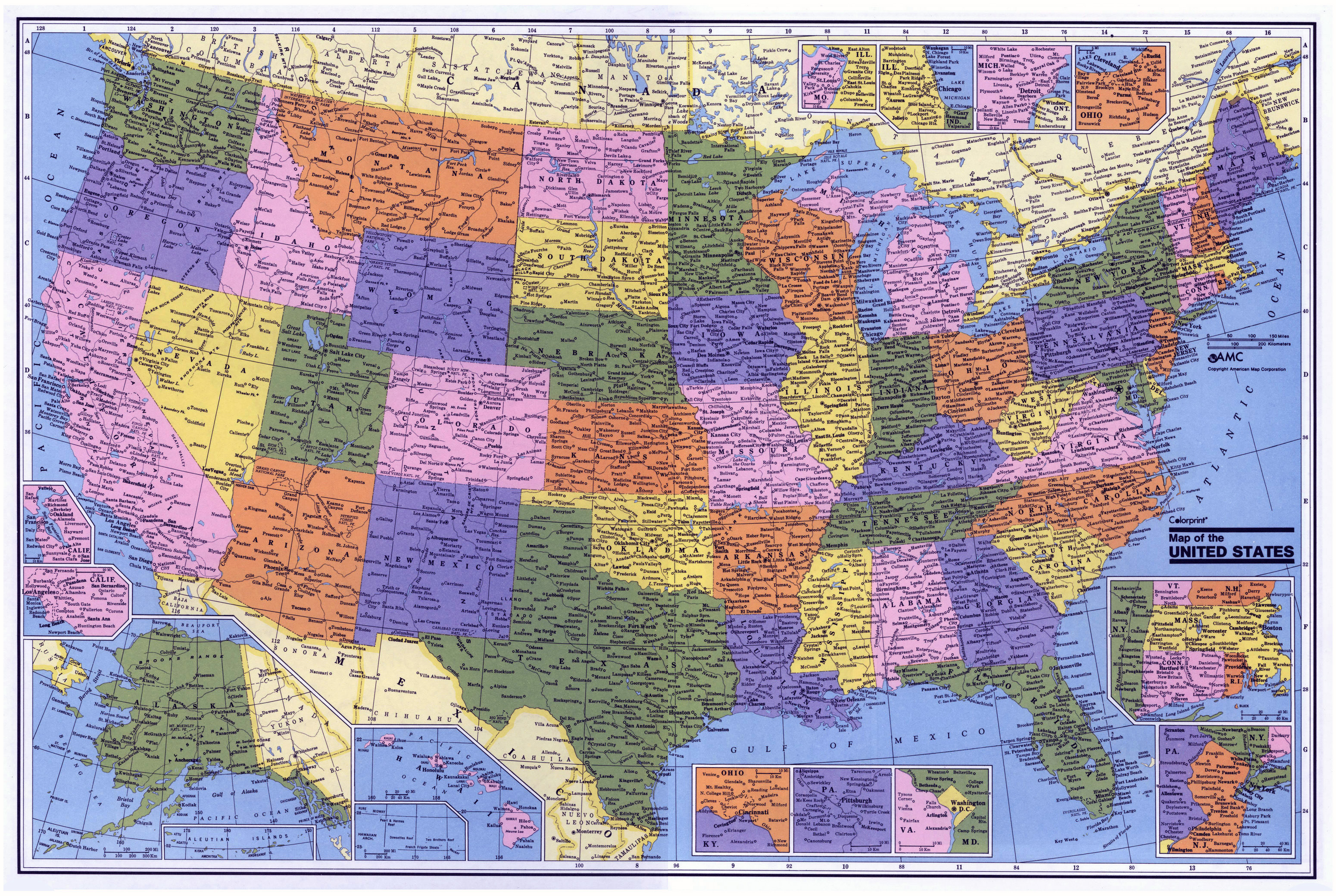 Large Administrative Map Of The USA USA Maps Of The USA Maps - Usa large map