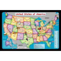 Detailed kids illustrated map of the USA | USA | Maps of the ...