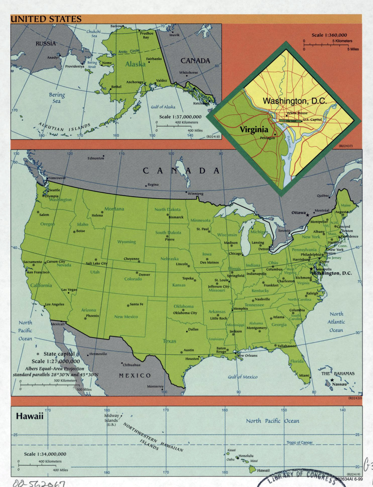 Large Detailed Political And Administrative Map Of The USA - Usa detailed map