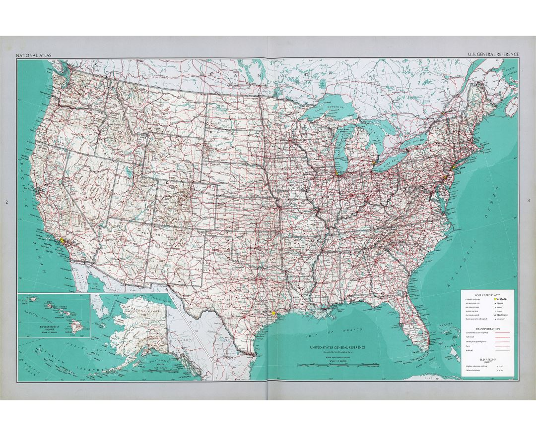 Maps Of The USA Detailed Map Of The USA The United States Of - Map of us roads and cities