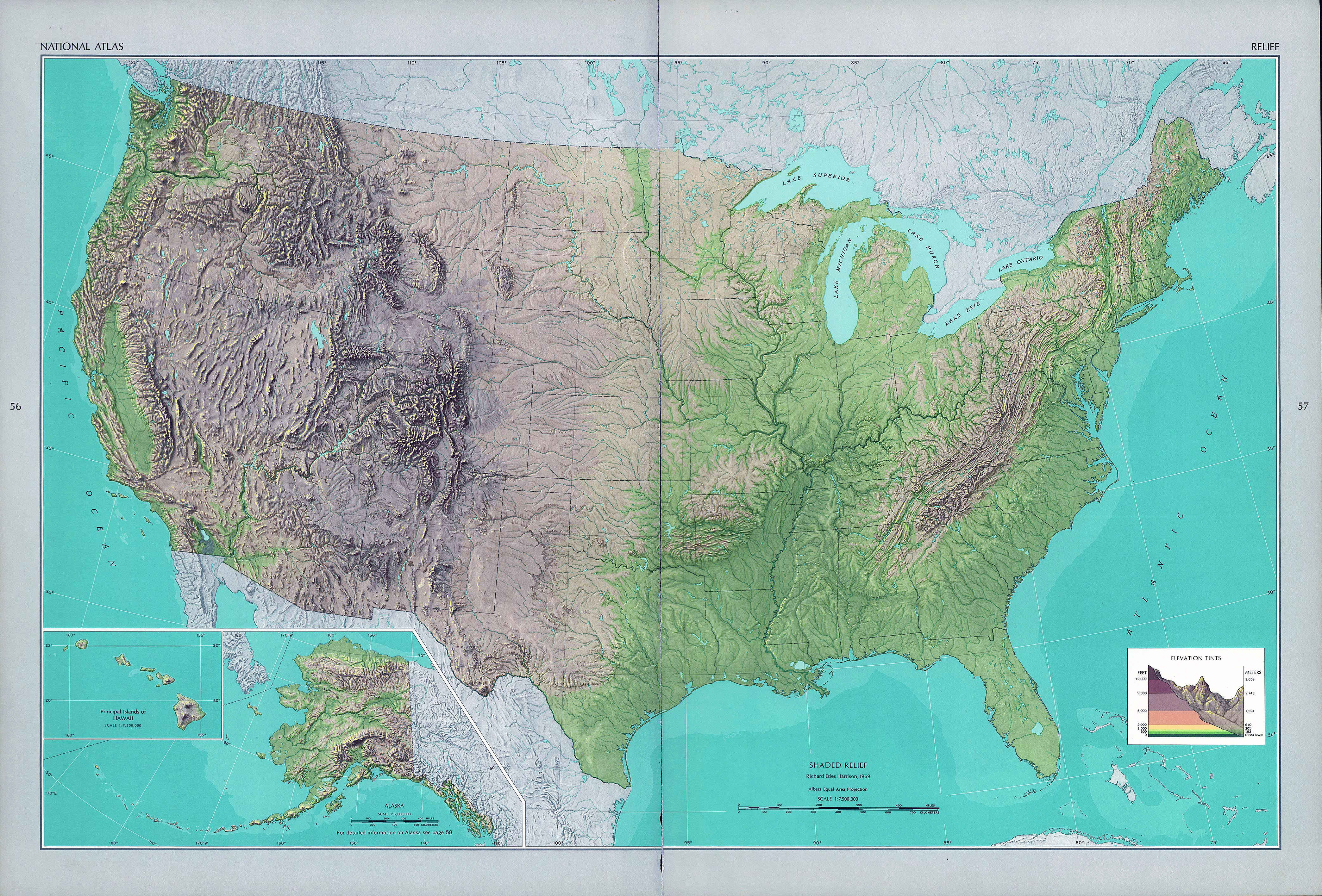 Map Of United States Large Detailed Product Map Of The United - Relief map us